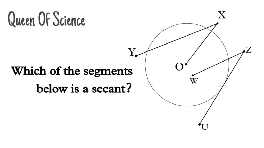 which of the segments below is a secant